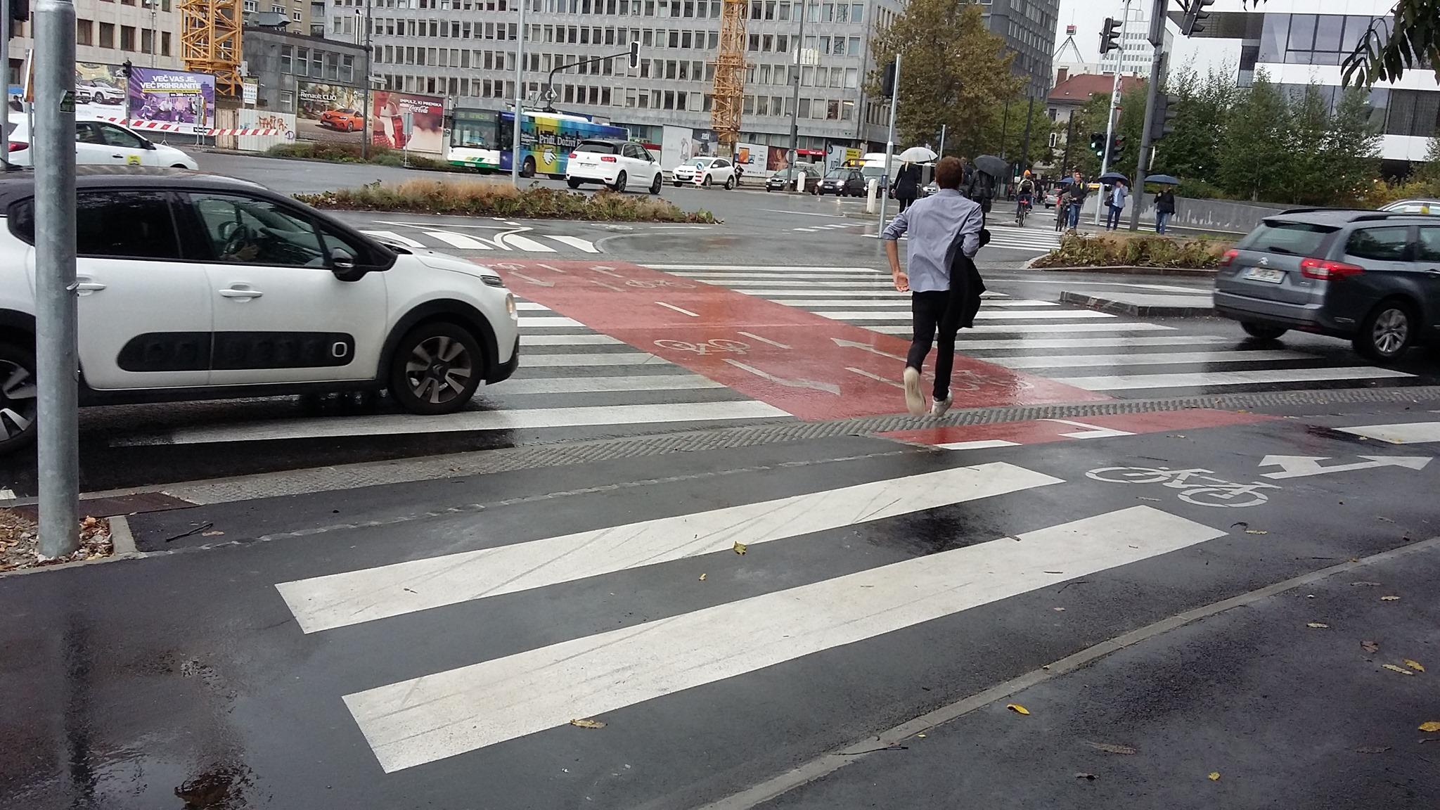 Smrtno nevarno križišče Tivolske in Dunajske